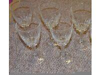 Lovely set of 5 wine glasses
