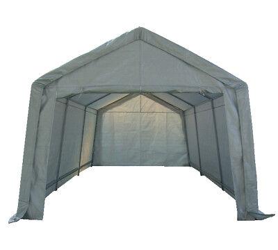 Portable Garage Carport Shelter Car Port Canopy 3m x 6m Galvanised Frame White