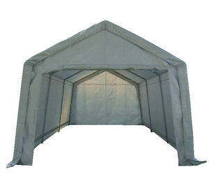 Portable Garage Carport Shelter Car Canopy 3m x 6m WHT