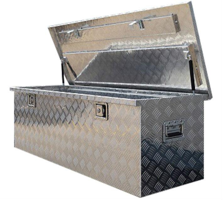 283 Us Pro Xlarge Aluminium Chequer Job Site Storage Chest