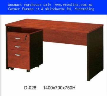 office desk | strong 1.4m desk with pedestal