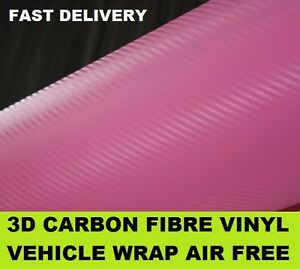 3D-Pink-Carbon-Fibre-Vinyl-1520-x-500mm-with-Air-Drain-Bubble-Free-Channels