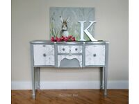 Grey/White/Silver Sideboard/Dresser hand-painted with Annie Sloan /Laura Ashley