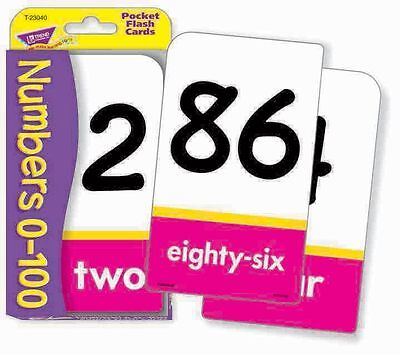 TREND kids children's Maths Numbers 0-100 Pocket Flash Cards for teacher/parent