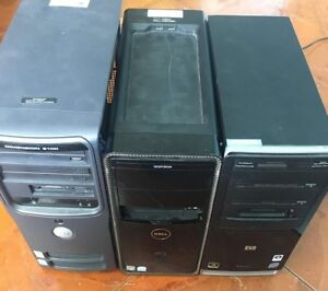 3 Computer Towers (with hard drives removed)
