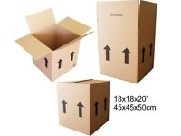 "NEW Large Double Wall Cardboard boxes - 18x18x20"" / 457x457x508mm / 45x45x50cm"