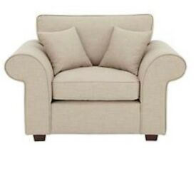 Beige 2 seater Lisbon Sofa and Armchair