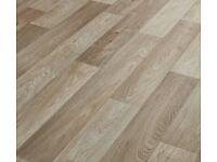 New vinyl flooring remnant