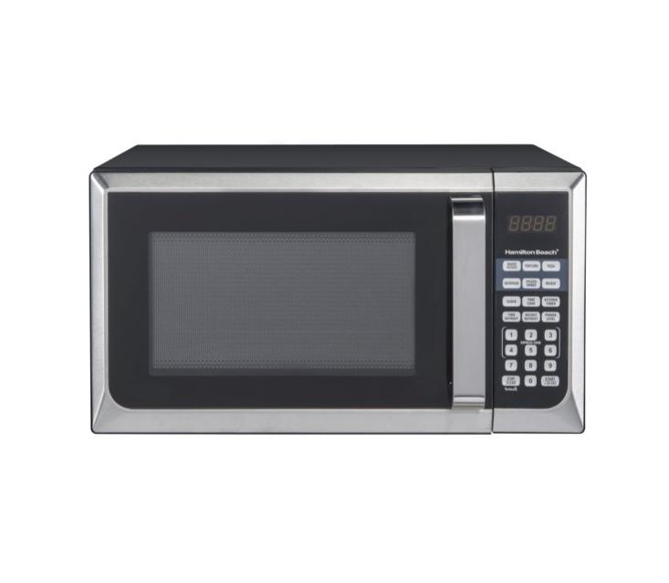 Hamilton Beach Microwave Oven Stainless Steel 09 Cu Ft 900 W
