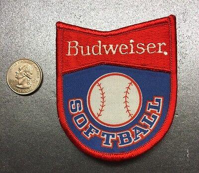 """Budweiser Softball Bud Light Anheuser-Busch Embroidered Patch 3"""" X 4"""""""