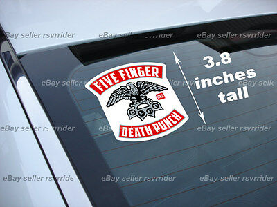 full color five finger death punch rocker decal sticker 5fdp *fs