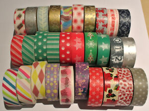 Washi-Tape-15mm-x-10m-Roll-Decorative-Sticky-Paper-Masking-Tape-Adhesive-Gift