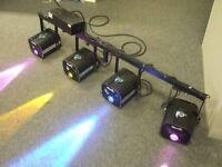 MARTIN ROBOCOLOR 2 / ROBO COLOR 11 X 4 LIGHTS AND POWER CONTROLLER