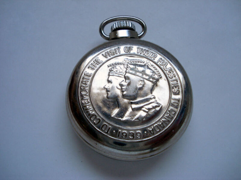 POCKET WATCH ~ 1939 VISIT TO CANADA ~ KING GEORGE VI & ELIZABETH