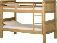 NEW *FREE DELIVERY* Corona Solid Pine Children's 3ft Bunk Bed - Can be split into 2 Separate Beds