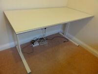 desk, IKEA, white