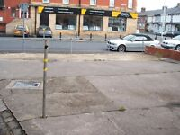 Land in prominent position in Blackpool, hard standing for 6 - 8 cars, Car PARKING only, permanent