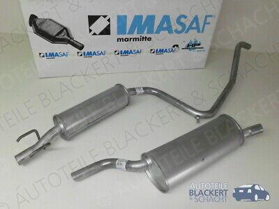 Imasaf Auspuffset Mitteltopf + Endtopf für Opel Combo 1.2 + 1.4 1994-2001