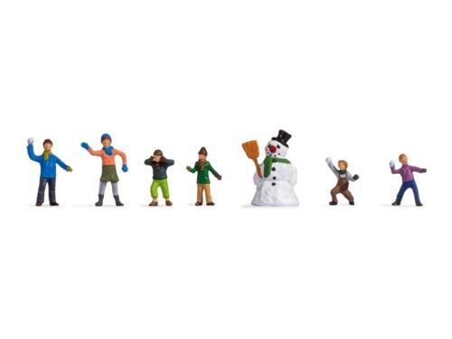 Noch 45821 Enfants Dans Neige, Figurines Voie Tt (1:120)