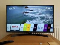 "LG 49"" 4K Smart Ultra HD WiFi Led tv freeview HD youtube Netflix Excellent Condition"