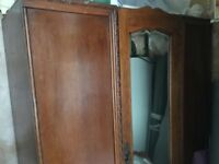 double wardrobe solid wooden £34.99