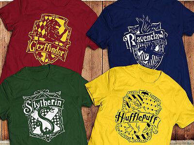 Harry Potter T-Shirt, Ravenclaw, Hufflepuff, Gryffindor, Slytherin, , Hogwarts