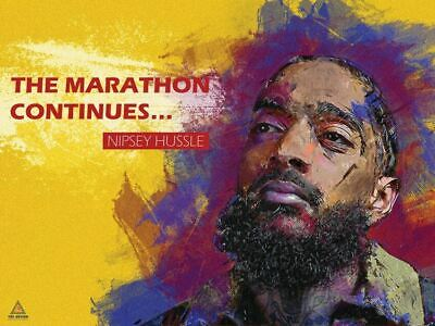 Nipsey Hussle Poster The Marathon Continues II Art Print (24x18)