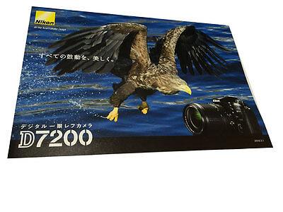 Nikon Digital Camera D7200 Brochure Catalog Japan Lenses ref  2016 New F/S