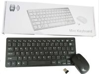 wireless mouse & mini keyboard with silicon cover - NEW
