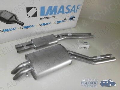 IMASAF Auspuff Mitteltopf+Endtopf für Mercedes SL 280/350/450 R107/W107 BJ.71-85