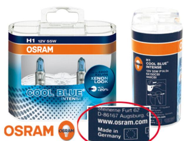 Osram H1 Cool Blue Intense Glühbirnen Leuchtmittel / Birne 55 Watt  Xenon Look