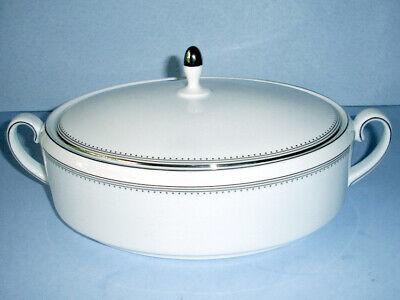 Vera Wang Wedgwood Grosgrain Platinum Covered Vegetable Dish Bowl Oval New Platinum Covered Bowl
