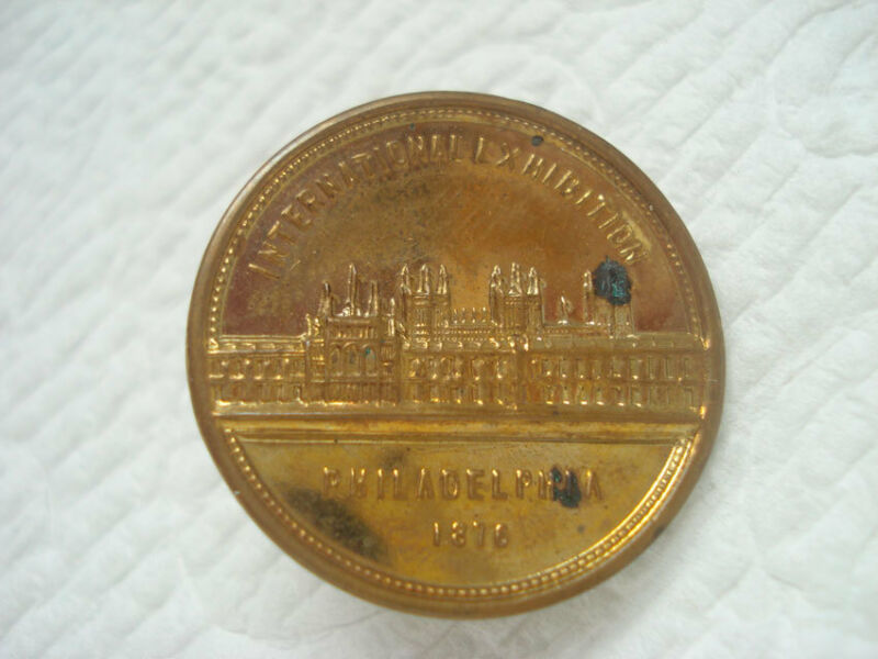1876 PHILADELPHIA PA EXPO SOUVENIR BUTTON