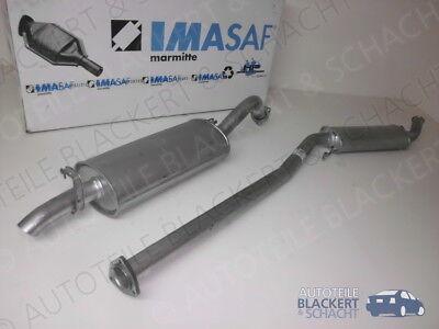Imasaf Auspuff Set Mitteltopf+Endtopf für Audi 200 (44, 44Q) 2.1 Turbo 1983-1988