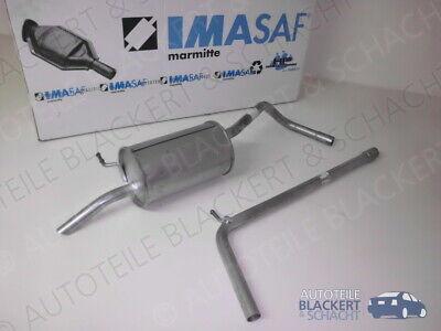 IMASAF Auspuffset für VW Fox 1.2 2004-2011 | Mittelrohr + Endtopf