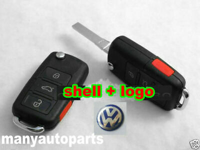 3+1 Remote Key Case Shell VW BEETLE JETTA PASSAT GOLF Rabbit MK4 MK5 R32 GTI  for sale  USA