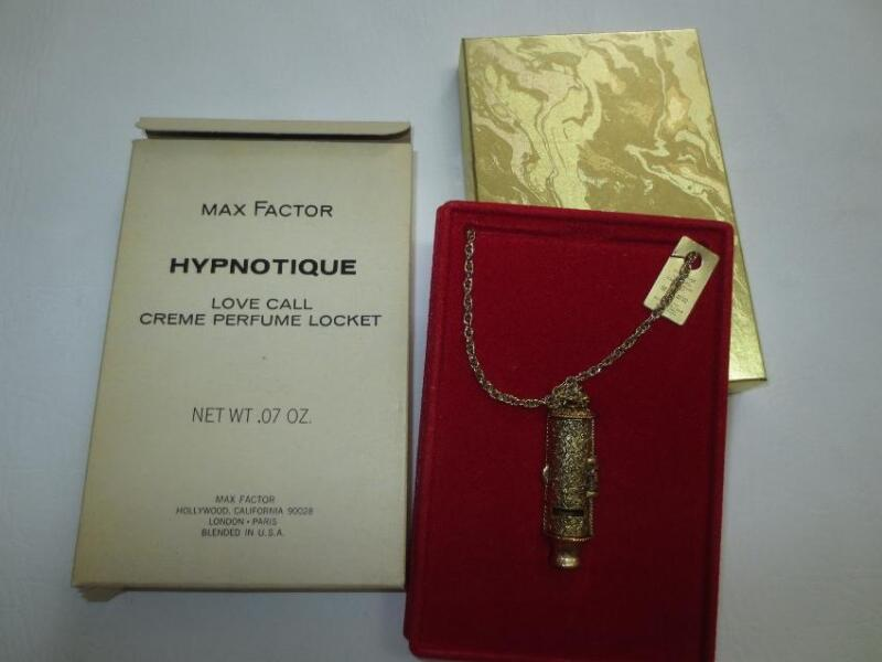 Vtg Max Factor HYPNOTIQUE Love Call Solid Creme Perfume Locket MIB