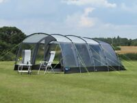 Kampa Hayling 6 family tent, footprint, carpet & front vestibule
