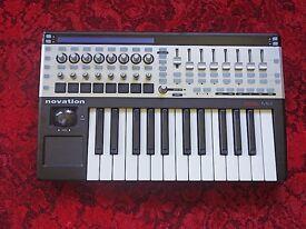 Novation 25 SL MK II Controller (unmarked). Gig Bag.. Novation Foot Pedal (unused). £180 ono