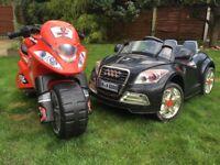 Fantastic Kids Electric Mini Vehicles - Audi TT and Motorbike