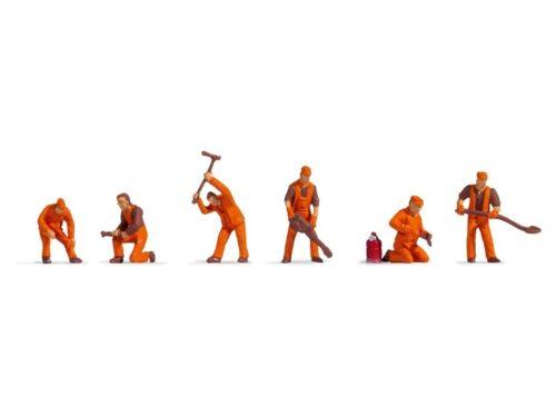 Noch 47012 Équipe de Construction des Rails, Figurines Voie Tt (1:120)