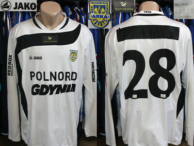 Arka Gdynia Jako 2010/2011 Away #28 Poland Ekstraklasa Jersey Shirt Player Issue image