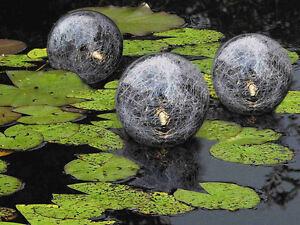 Schwimmende Solarkugeln 3er Set - Schwimmkugeln Teichbeleuchtung Kugelleuchten