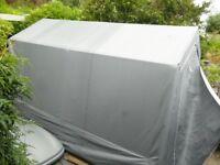 PORTABLE & WATERPROOF Garden Storage. 3.6x2.2m. 2.3m high to apex