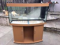 Jewel Bow Front Fish Tank 240ltr with cabinet