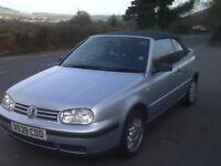VW Golf cabriolet 1.8 Yr 2000, Xreg, £1000