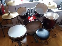 Mapex Tornado Drum Set & Gear 4 Music Cymbals - Excellent Condition - £280