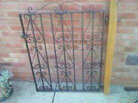 Vintage Wrought Iron Garden Gate.