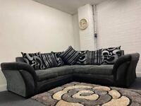 SOLD- Grey & black Harvey's corner sofa delivery 🚚 sofa suite READ DESCRIPTION