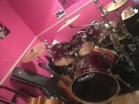 Mapex M Series 5 piece kit, with hardware, ZBT cymbals, kick and stool